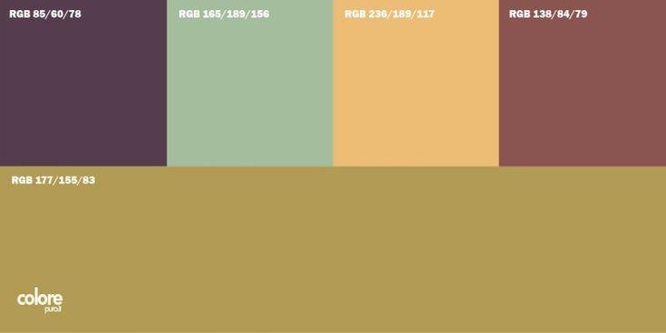 Abbinamento colori beige viola azzurro arancione - Abbinamento colori pareti casa ...