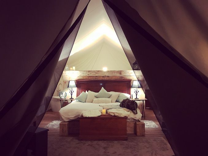 A secret glamping getaway can be found at the new Whispering Springs