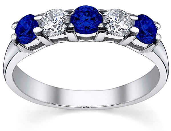 Blue Sapphire Rings September Birth Stone. Perfect.