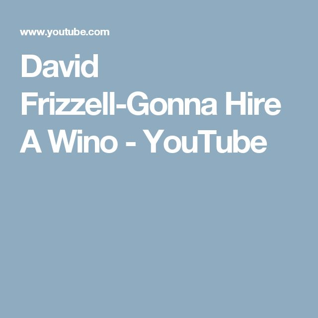 David Frizzell-Gonna Hire A Wino - YouTube