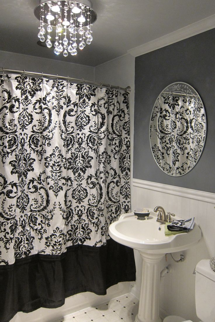 This would be my bathroom, except with more counterspace! damask <3    I SO want that light fixture in my bathroom!!