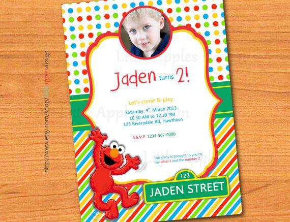 21 best Elmo images – Custom Elmo Birthday Invitations