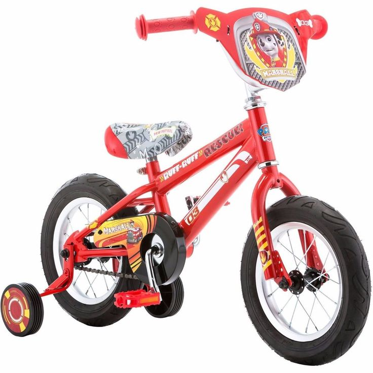 Paw Patrol Marshall 12 inch Boys Bike BMX Tires Training Wheels Brakes Red #PawPatrol