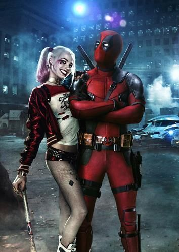 #Deadpool #Fan #Art. (DEADPOOL & HARLEY QUINN Suicide Squad DC Wall Art Print Pic Photo Poster) By: Marvel. ÅWESOMENESS!!!™ ÅÅÅ+