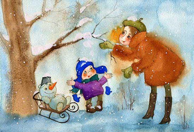 Спокойной, виктория кирдий картинки зима с надписями
