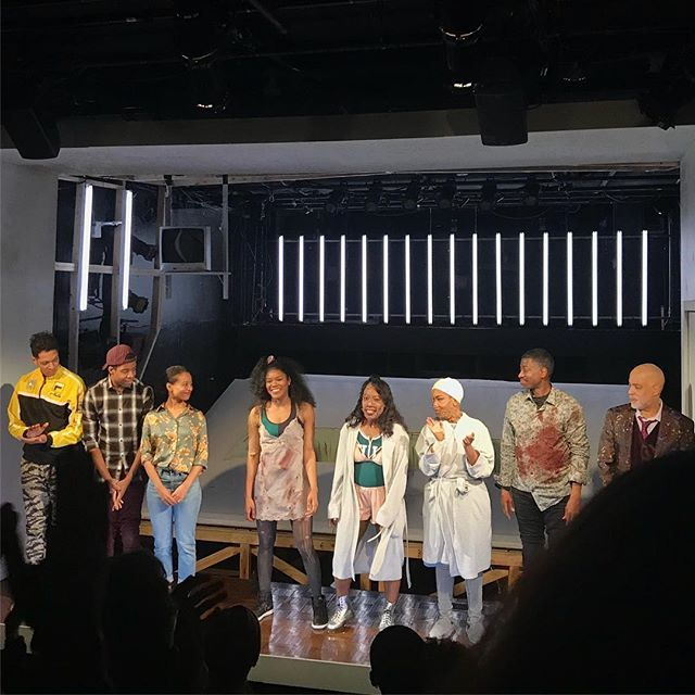 The cast of #isgodis serving revenge doused in lighter fluid. Also I feel differently about arugula now.  #sohorep #alesheaharris #theater #theatre #offbroadway #tribeca #nyc #newyork