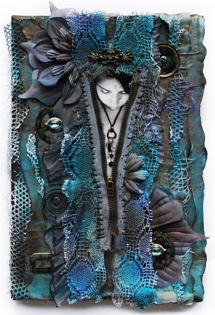 https://flic.kr/p/77oeX6   Rozbierz mnie... undress me...   Mixedmedia canvas layout