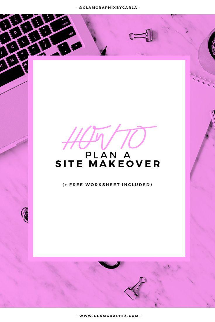How to Plan a Site Makeover (Free Worksheet Included)    business tips, entrepreneurship, entrepreneur tips, girlboss, solopreneur, worksheet, freebies, site makeover planner, creativepreneur, lady boss