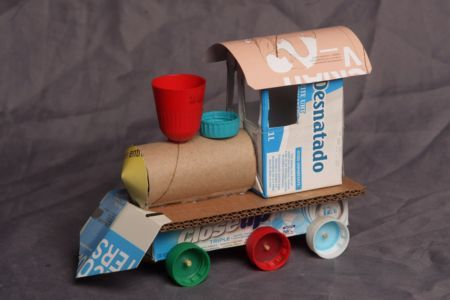 toys made out of found/spare material! great!