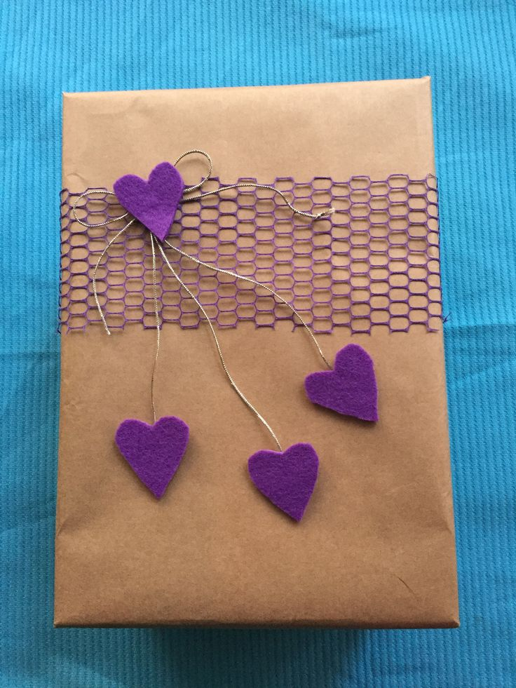 Gift wrapping ideas with kraft paper, Hediye paketi, gift wrapping, kendin yap, diy, hediye, wrapping, gift, love, heart, kraft, mor, purple