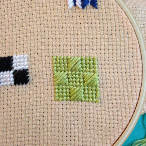 chequer embroidery stitch tutorial Badass Cross Stitch