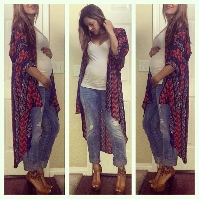 Casual maternity chic