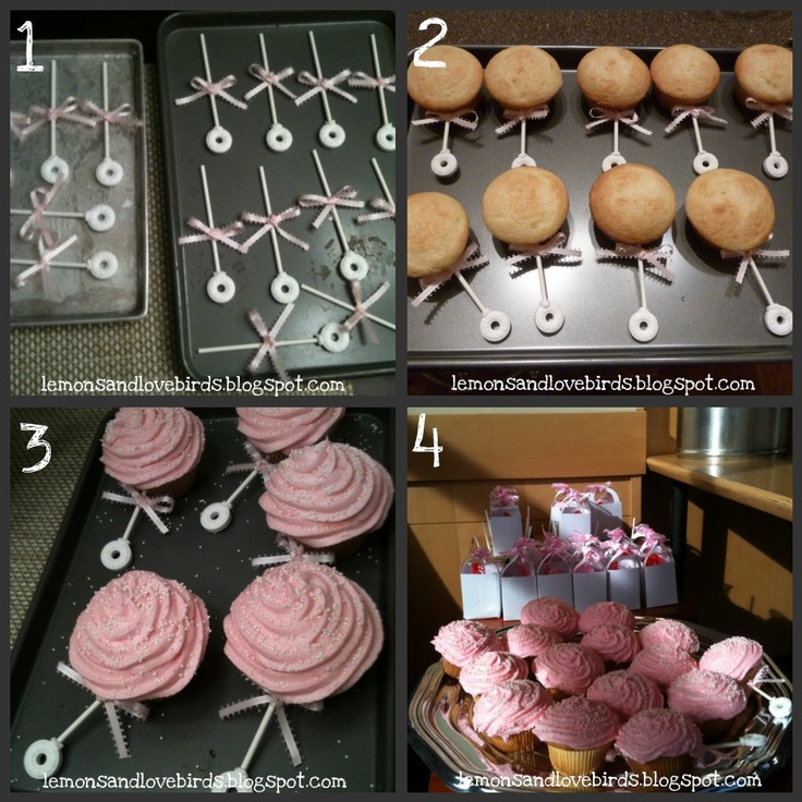 Baby Rattle Cupcakes!