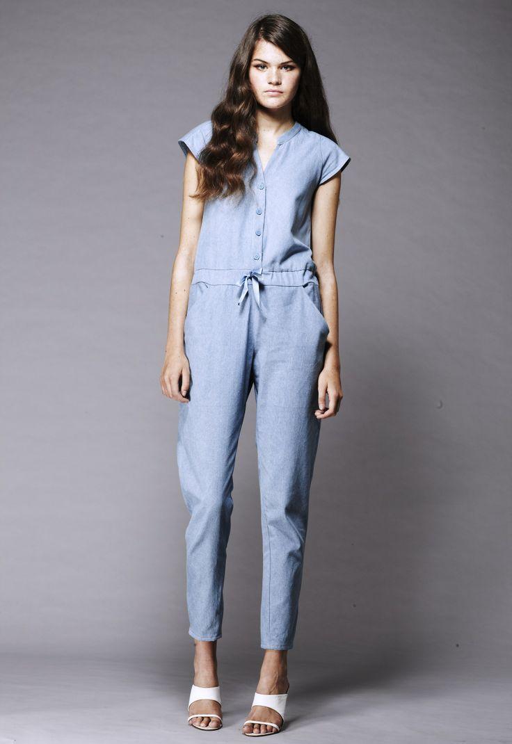 Shanti Sundays Pale denim jumpsuit  Made in England