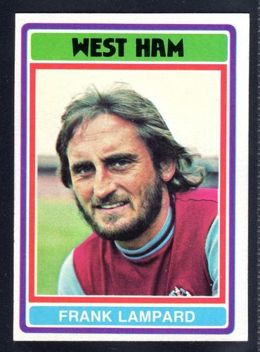 TOPPS FOOTBALLERS-BLUE-1976-FRANK LAMPARD-WEST HAM UNITED No.84