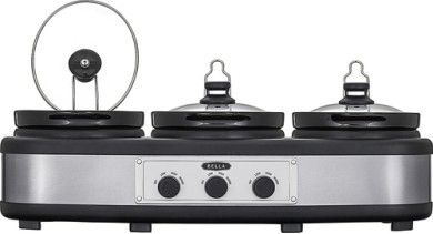 Bella - 3 x 2.5-Quart Triple Slow Cooker - $29.99! - http://www.pinchingyourpennies.com/bella-3-x-2-5-quart-triple-slow-cooker-29-99/ #Bestbuy, #Tripleslowcooker