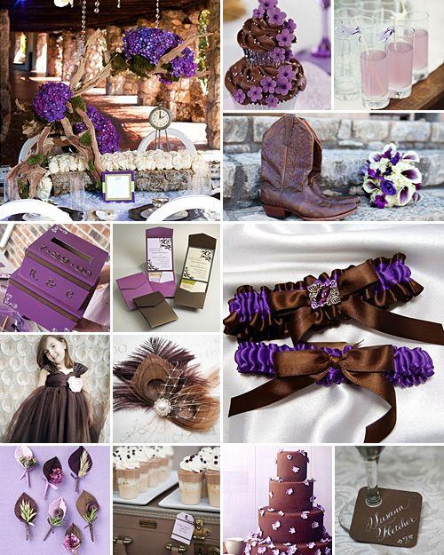 24 best Wedding Theme Colours: Brown & Purple images on Pinterest ...