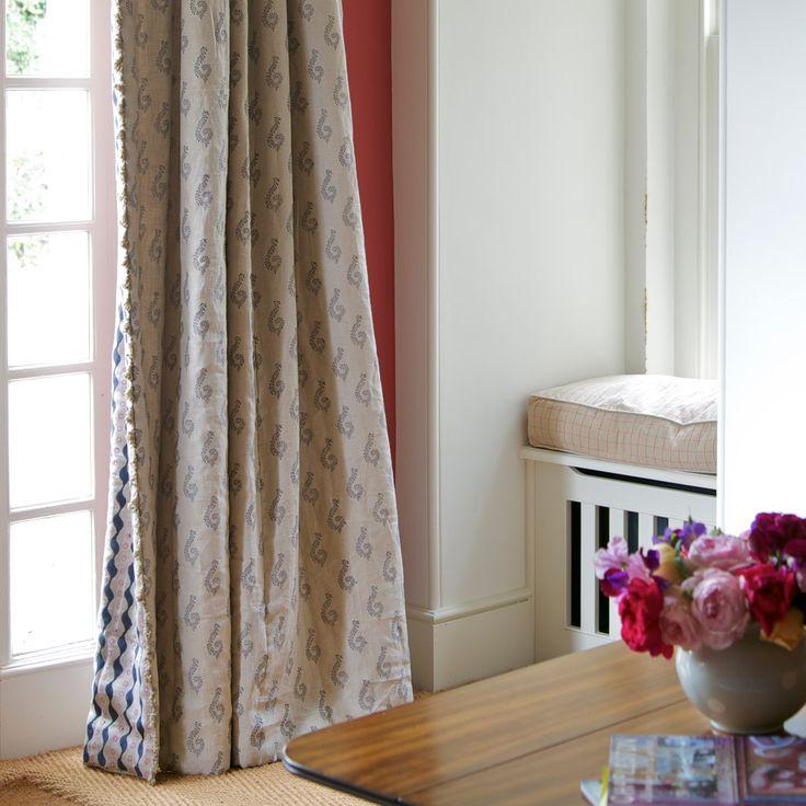 Fabric 322 - Linen/Shalini - Graphite | Susie Watson Designs