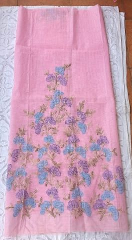 Team this beautiful pink kurta  up with a plain bottom and dupatta, and become the cynosure of all eyes. Work is on kurta front and edge of sleeves - See more at: http://www.giftpiper.com/Kota-Cotton-Kurta-Handembroidered-Shadow-Work-Pink-Blue-id-724617.html
