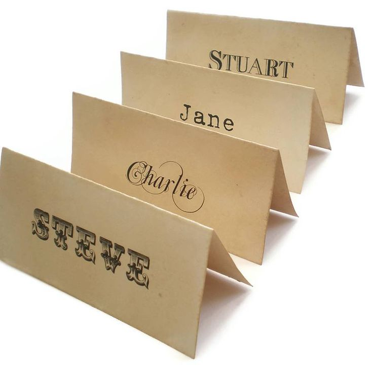 Our Personalised Place Cards Are The Perfect Addtion To All Your Events And Occasions GBP