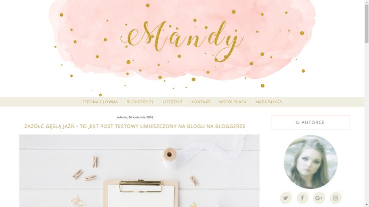Szablon dla Bloggera - Mandy