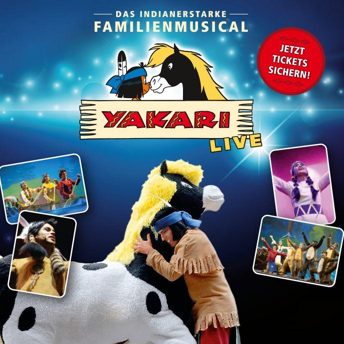 YAKARI - Das indianerstarke Familienmusical - Freunde fürs Lebens - Tickets unter: www.semmel.de