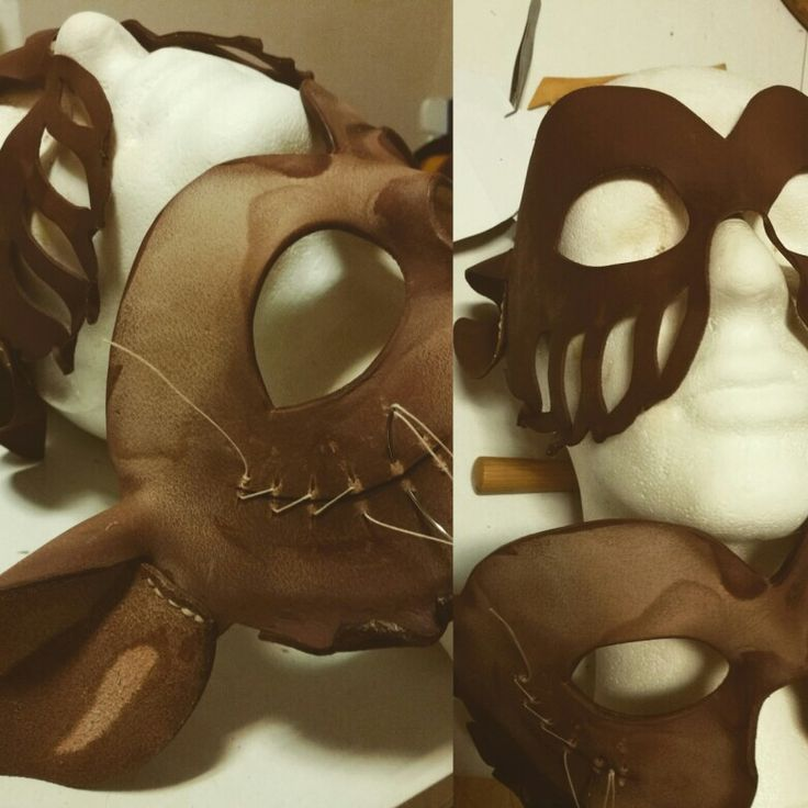 Two new masks formpressed and waxhardened