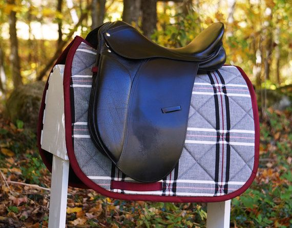 Ready to Ship  Burgundy Gray and Black Plaid by PaddedPonies