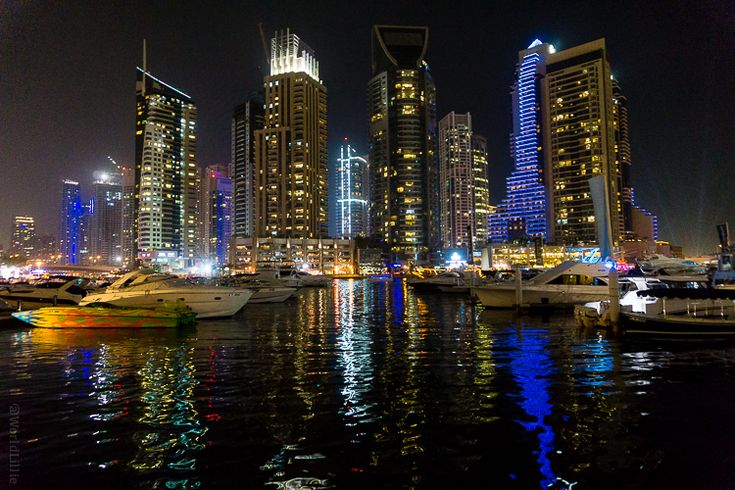 Why I Traveled to Dubai, 5 Months Pregnant and Alone! The Dubai Marina is stunning at night.