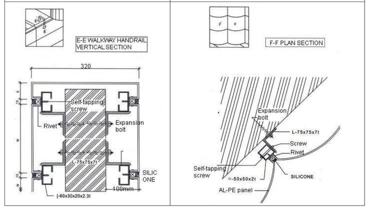 Aluminum Composite Panel Details : Ideabond aluminium composite panel installation ef section