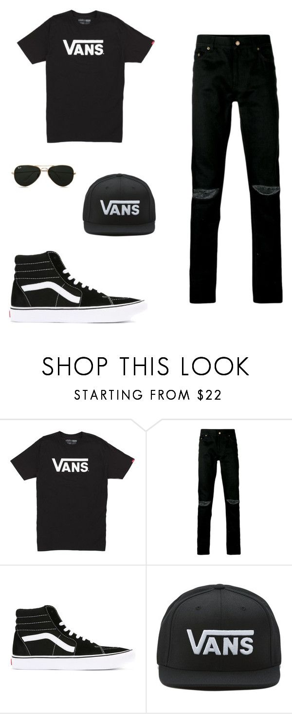 """Vans."" by daniuskaloreto on Polyvore featuring Vans, Yves Saint Laurent, Topman, men's fashion y menswear"