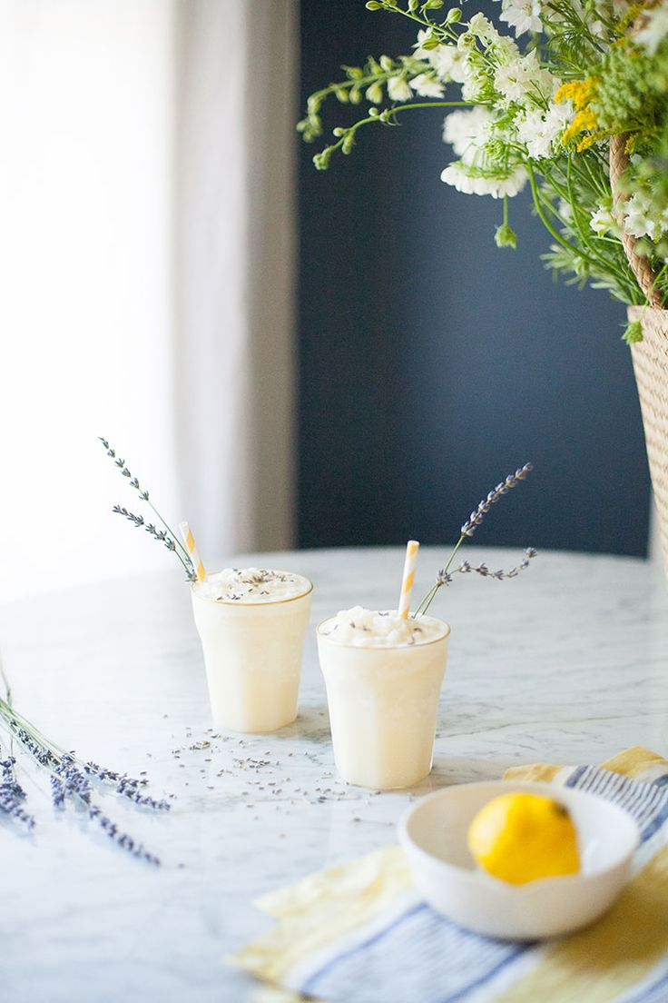 Recipe for coconut cream lemonade cocktail with lavender simple syrup. The refreshing way to stay cool this summer! Get the full recipe on Jojotastic.com /