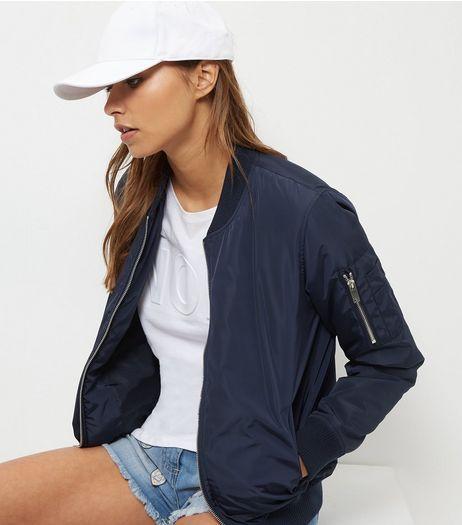 Best 25  Navy bomber jacket ideas on Pinterest | Navy blue bomber ...
