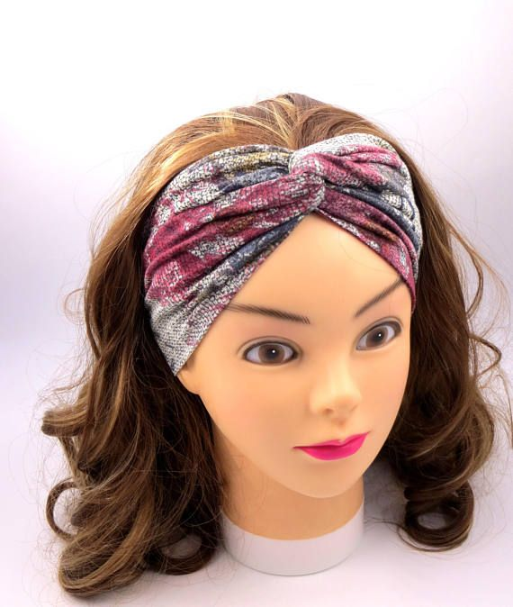 Larga fascia per capelli modello turbante bandana jersey