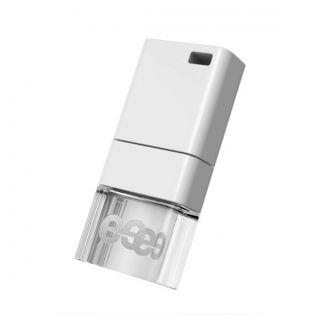 LEEF FLASH USB 2.0 ICE LED 64 GB WHITE Leef Ice 3.0 to idealne połączenie piękna i funkcjonalności. Urządzenie zostało zaprojektowane z anodyzowanego aluminium i materiału metaakrylowego na bazie żywicy. Daje to unikalne wrażenie wizualne, kiedy pendrive jest podłączony i wbudowana dioda LED łagodnie świeci.