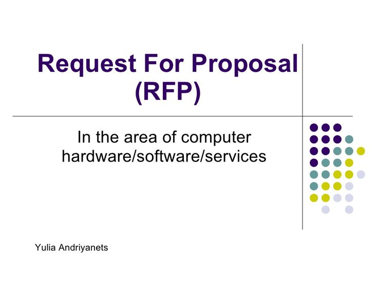 20 best RFI images on Pinterest Proposal, Proposals and Request - rfp template