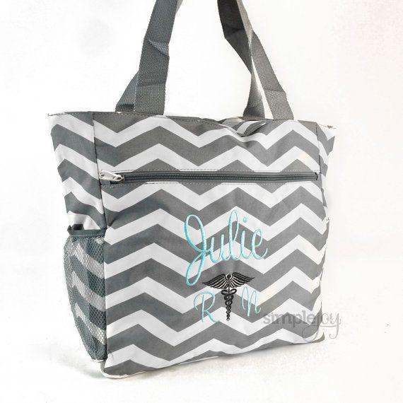 Many Colors Nurse Bag Nurse Tote Bag Monogrammed by ShopSimpleJoy