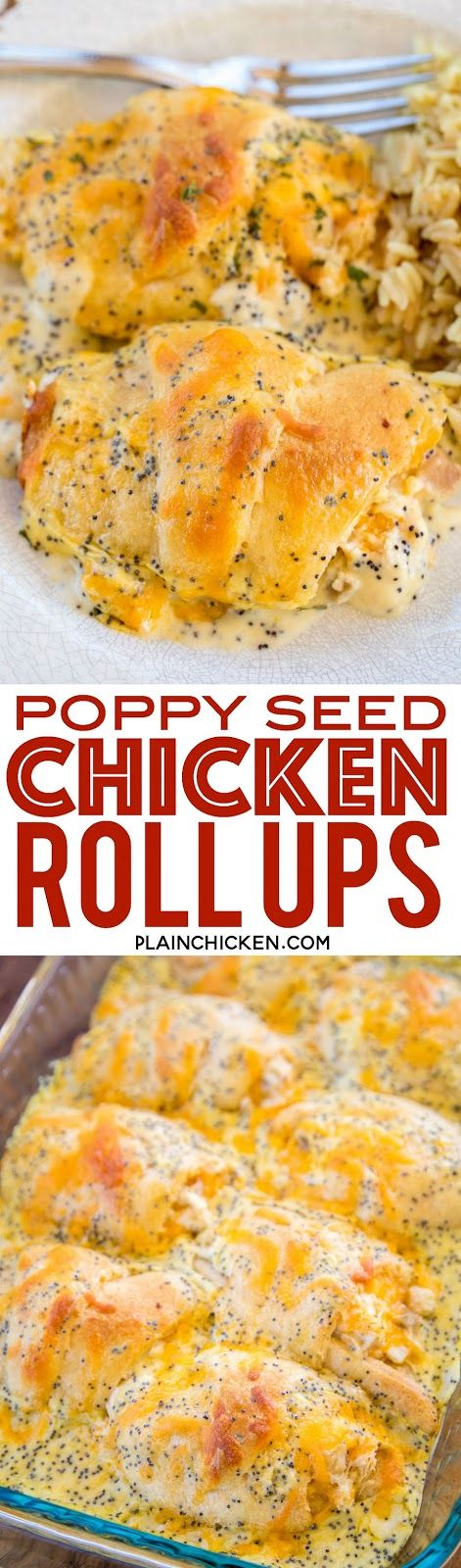 Poppy Seed Chicken Roll Ups - Plain Chicken