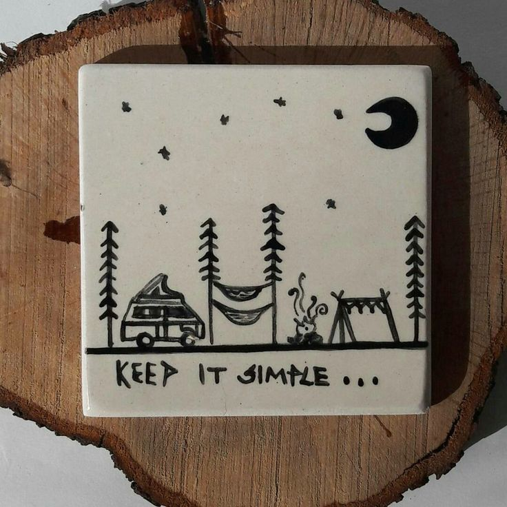 Less is more ⛺   Ceramic, pottery, vanlife, keepitsimple, nature, tent, adventure