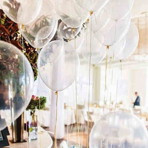 20 pcs/lot 12inch Transparent Latex Clear Helium Balloon Wedding Decoration - Wedding Look