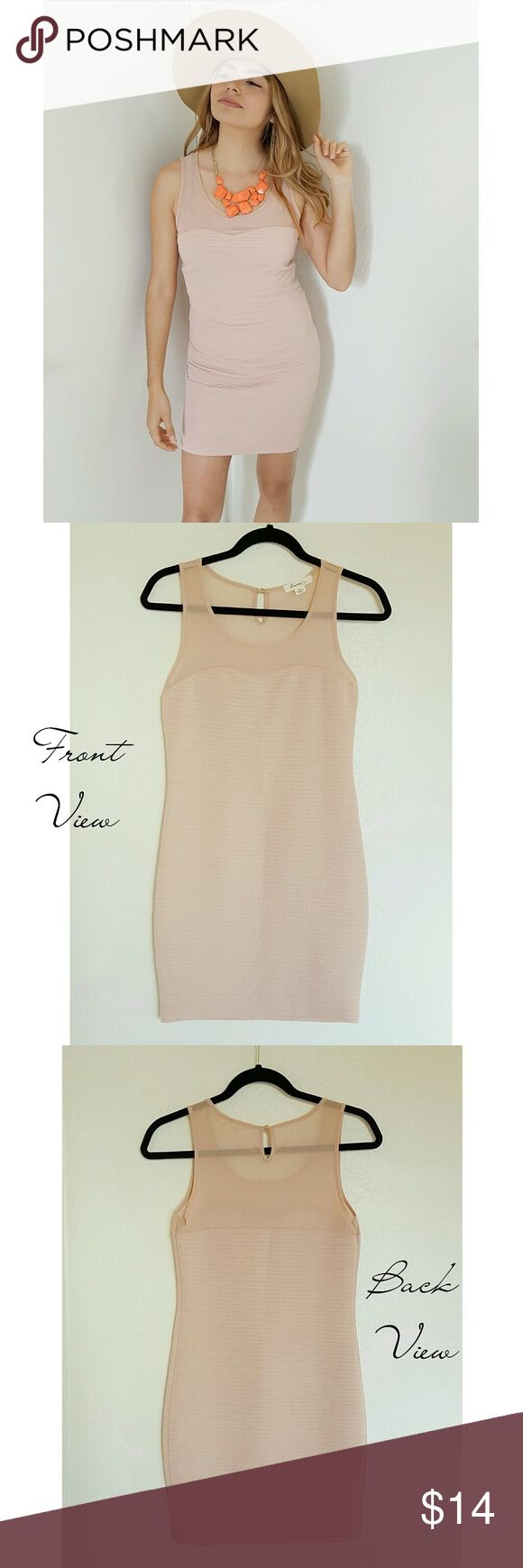 💋2x HP💋Beige Bodycon Dress ~ Elegant nude/beige bodycon dress ~ Excellent neutral tone that looks great on many different skin tones ✌🏻✌✌🏽✌🏿 ~ Sheer across shoulders ~ Worn once to a bridal shower ~ In perfect condition ~ Fits a size X-Small or Small ~ Very figure flattering  🌻 GET THE LOOK: Photo 5 is a style inspo photos. Similar looks; Not exact item.  ❤ LIKE for price drop notifications 👍 Accepting Reasonable OFFERS 🌴 BUNDLE your likes & I'll send you an offer! Forever 21 Dresses…
