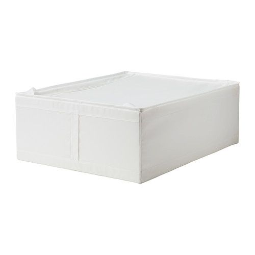 "SKUBB Storage case - white, 17 ¼x21 ¾x7 ½ "" - IKEA -- For closet organization"
