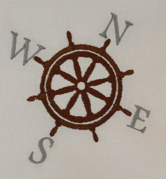 Digital Embroidery Design  Nautical by EmbroideryDesignsBRN