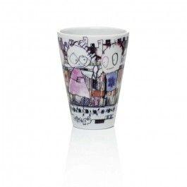 "Aida Thermo Coffee Mug Poul Pava ""City"" 2 Set $12.00"