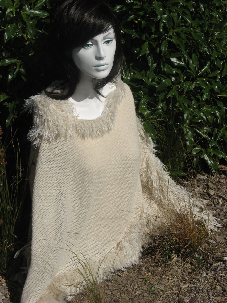 Poncho - Beautiful with soft tassel and sides.