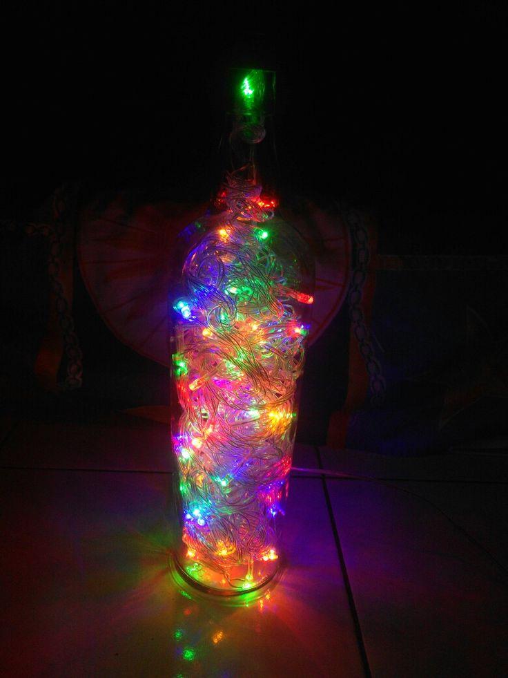 rainbow lamp bottle... #kalem
