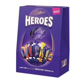Cadbury Heroes Easter egg, new for Easter 2015, a Cadbury Easter egg with miniature Cadbury chocolate bars and sweets. #Easter_egg #chocolate #Cadbury