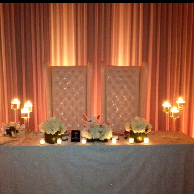 Bride And Groom Table | Events By Baez Party Productions | Pinterest |  Sweetheart Table, Head Tables And Wedding