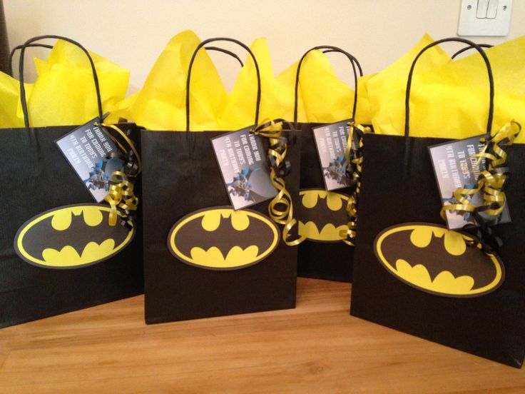 Batman party bags Party bags for kids Find us on Facebook  Crofty75@aol.com 07799434226