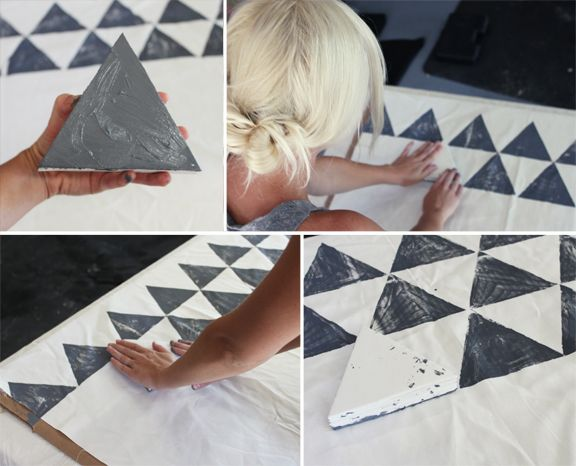 Kelli Murray | DIY HAND PAINTED TENT COVER Kelli Murray